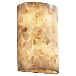 Alabaster Rocks! Large Cylinder Wall Sconce