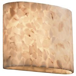 Alabaster Rocks! Oval Wall Sconce