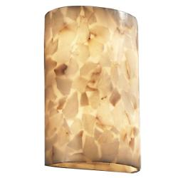 Alabaster Rocks! Really Big Cylinder Wall Sconce