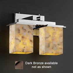 Alabaster Rocks Montana Bath Bar (Bronze/2 Light) - OPEN BOX