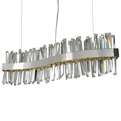 Allegri Glacier LED Wave Linear Suspension