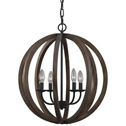 Allier Large Pendant (Weathered Oak/Small) - OPEN BOX RETURN