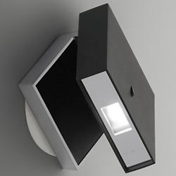Alpha Wall Sconce (Black/Satin Nickel) - OPEN BOX RETURN