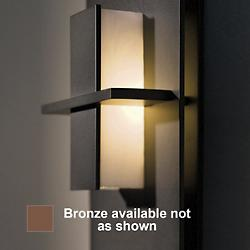 Aperture Vertical Wall Sconce (White/Bronze) - OPEN BOX