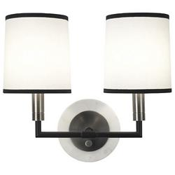 Axis Double Wall Sconce (Antique Nickel/White) - OPEN BOX