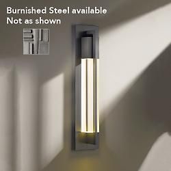 Axis Outdoor Wall Sconce (Burnished Steel/Large) - OPEN BOX
