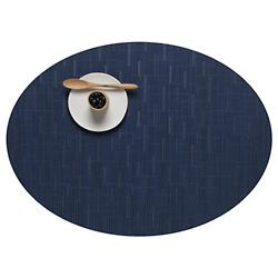 Bamboo Oval Tablemat (Lapis) - OPEN BOX RETURN
