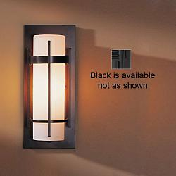 Banded Aluminum Outdoor Sconce ADA (Black/Opal) - OPEN BOX