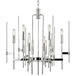 Bari Chandelier (Polished Nickel/12 Light) - OPEN BOX RETURN