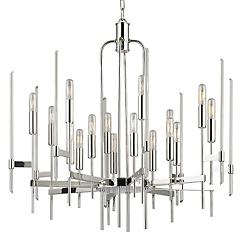 Bari Chandelier (Polished Nickel/16 Light) - OPEN BOX RETURN