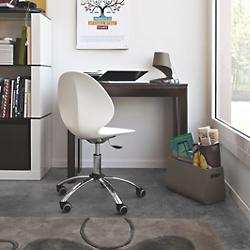 Basil Swivel Chair (Matte Optic White) - OPEN BOX RETURN