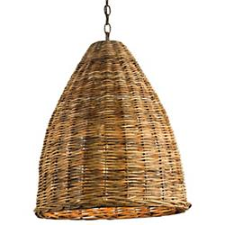 Basket Pendant (Natural) - OPEN BOX RETURN