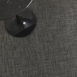Basketweave Plynyl Floor Mat (Carbon/46x72) - OPEN BOX
