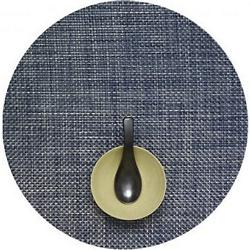 Basketweave Round Tablemat (Denim) - OPEN BOX RETURN
