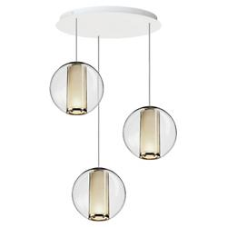 Bel Occhio Multi-Light Pendant (White/5 Lights) - OPEN BOX