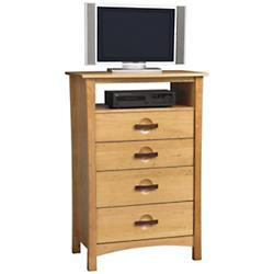 Berkeley 4 Drawer Tall Dresser and TV Organizer