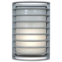Bermuda Ribbed Bulkhead Wall Sconce (Satin) - OPEN BOX