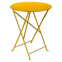 Bistro Round Folding Table (Honey Satin/24 Inch) - OPEN BOX