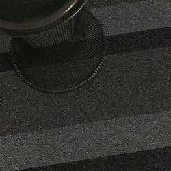 Bold Stripe Shag Mat (Silver/Black/Utility) - OPEN BOX RETURN