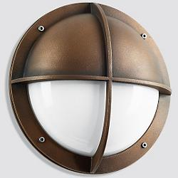 Boom LED Bronze Shielded Wall Light - 1182/1183