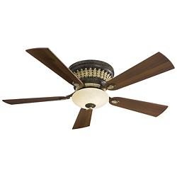 Calais Hugger Ceiling Fan (Golden Bronze) - OPEN BOX RETURN