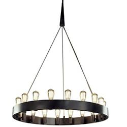 Candelaria Chandelier (Nickel/18 Lights) - OPEN BOX RETURN