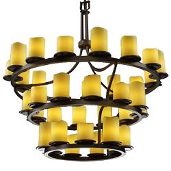 CandleAria Dakota 3-Tier Inverted Chandelier