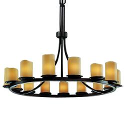 CandleAria Dakota Ring Chandelier