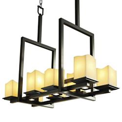 CandleAria Montana 8-Up and 3-Downlight Linear Chandelier