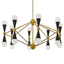Caracas 16-Arm Chandelier (Antique Brass) - OPEN BOX RETURN