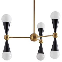 Caracas 3-Arm Chandelier (Antique Brass) - OPEN BOX RETURN