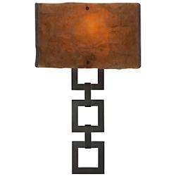Carlyle Square Link Glass Sconce