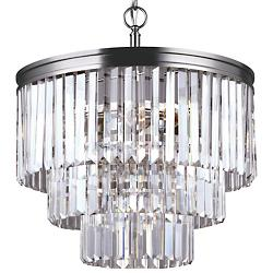 Carondelet 4-Light Chandelier (Nickel/Fluorecent) - OPEN BOX