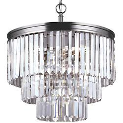 Carondelet 4-Light Chandelier (Nickel/Incan.) - OPEN BOX