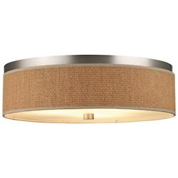 Cassandra Flushmount (Large/Satin Nickel/Natural) - OPEN BOX