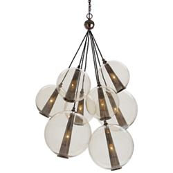 Caviar Adjustable Multi-Light Pendant (Brown/Lg) - OPEN BOX