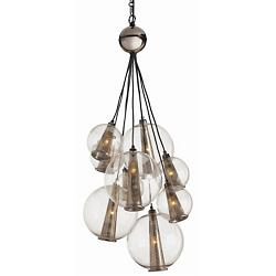 Caviar Adjustable Multi-Light Pendant (Brown/Med) - OPEN BOX