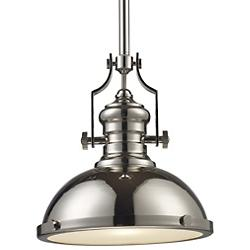 Chadwick Pendant w/ Metal Shade (Polished Nickel) - OPEN BOX