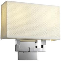 Chameleon 2 Light Wall Sconce with White Grass Shade