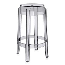 Charles Ghost Stool (Smoke Grey/Counter Height) - OPEN BOX