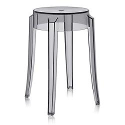 Charles Ghost Stool (Smoke Grey/Low Height) - OPEN BOX
