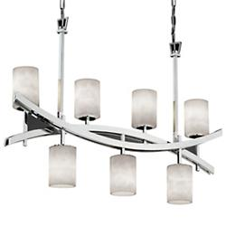 Clouds Archway 4-Up & 3-Downlight Crossbar Chandelier