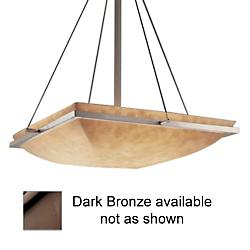 Clouds Square Bowl Suspension (Bronze/18 inch) - OPEN BOX