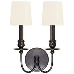 Cohasset 2-Light Wall Sconce (Old Bronze/White) - OPEN BOX