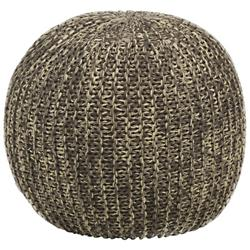 Contemporary Cotton Pouf
