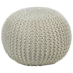 Contemporary Wool Pouf