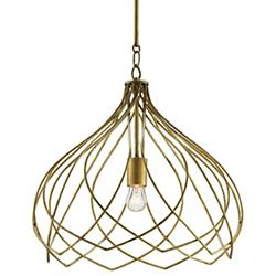 Coralie Pendant (Antique Gold Leaf) - OPEN BOX RETURN