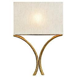 Cornwall Wall Sconce (Linen/Gold Leaf) - OPEN BOX RETURN