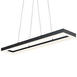 Corona LED Linear Suspension (Satin Black/Large) - OPEN BOX