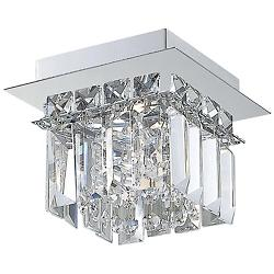 Crown 1-Light Flushmount (Chrome) - OPEN BOX RETURN